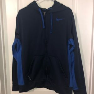 Nike Therma-Fit Full Zip Jacket, black/blue, Sz M
